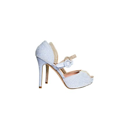 Barbara72 by Blossom, Pearl Embellish Glitter Mary Jane High Heel D