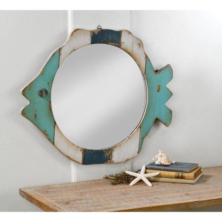 Tripar Wood Fish Frame Mirror - 25.25W x 20.5H (Fish Mirror)