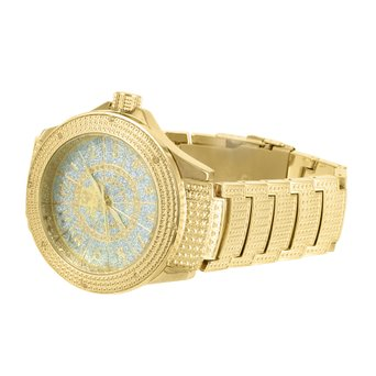 Yellow Gold Tone Watch Mens New Ice Mania Jojo Joe Rodeo 2 Free Leather Straps