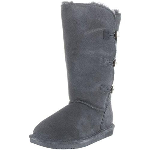 Bearpaw Boots Womens Lauren Toggle Cow Suede Sheepskin 1656W by Bearpaw