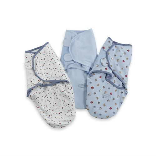 Summer Infant SwaddleMe Cotton Knit Small/Medium 3-Pack - Sports