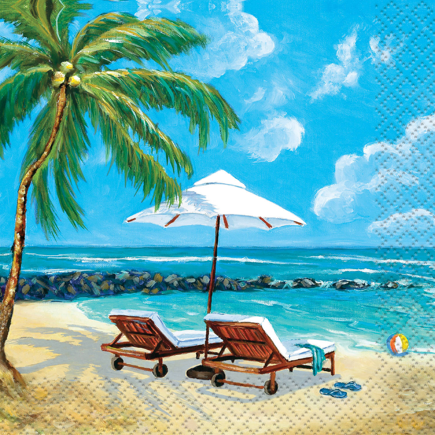 Tropical Beach Summer Cocktail Napkins, 24ct