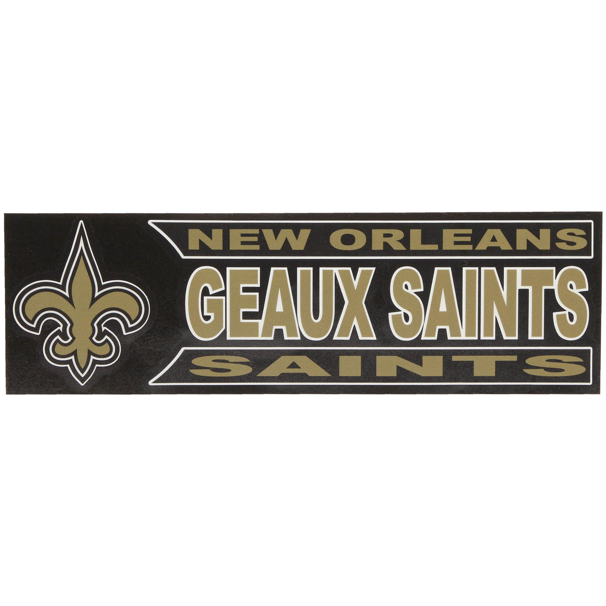 """New Orleans Saints 3"""" x 10"""" Xpression Full Color Decal - No Size"""