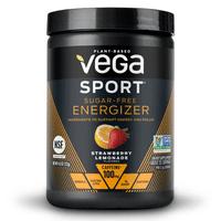 Vega Sport Sugar-Free Pre Workout Energizer Powder, Strawberry Lemonade, 4.3oz