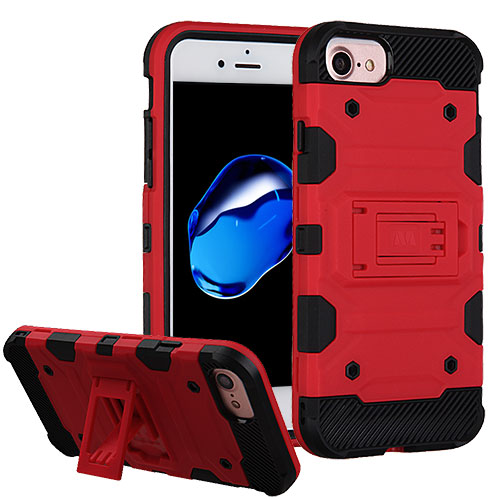 MUNDAZE Red Defense Double Layered Case For Apple iPhone 7 8 Phone