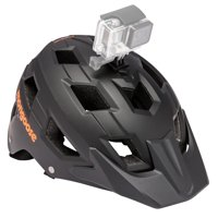 Mongoose Capture Adult Bicycle Helmet with camera mount, ages 14+, black