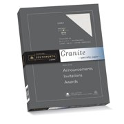 """Southworth® Granite Specialty Paper, 8 1/2"""" x 11"""", 24 Lb, 75% Recycled, Gray, Pack Of 100 Sheets"""