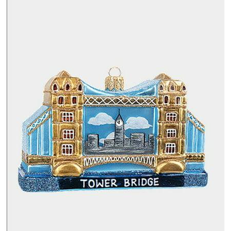 Tower Bridge London During Day Polish Glass Christmas Ornament Decoration ()