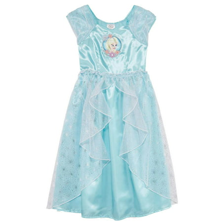Disney Frozen Toddler & Girls Blue Queen Elsa Nightgown Night Gown Dress - Queen Elsa Gown