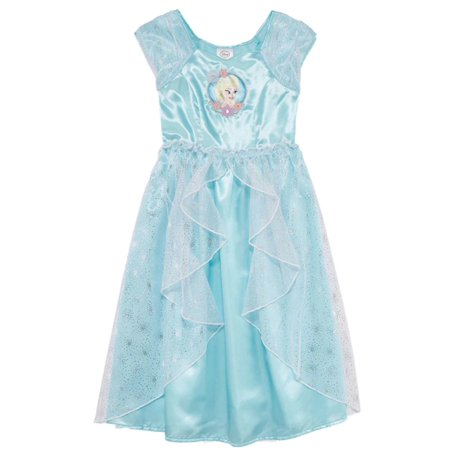 Disney Frozen Toddler & Girls Blue Queen Elsa Nightgown Night Gown Dress