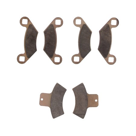Brake Pads for Polaris Scrambler 500 4x4 1998-2000 Front and Rear by Race-Driven ()