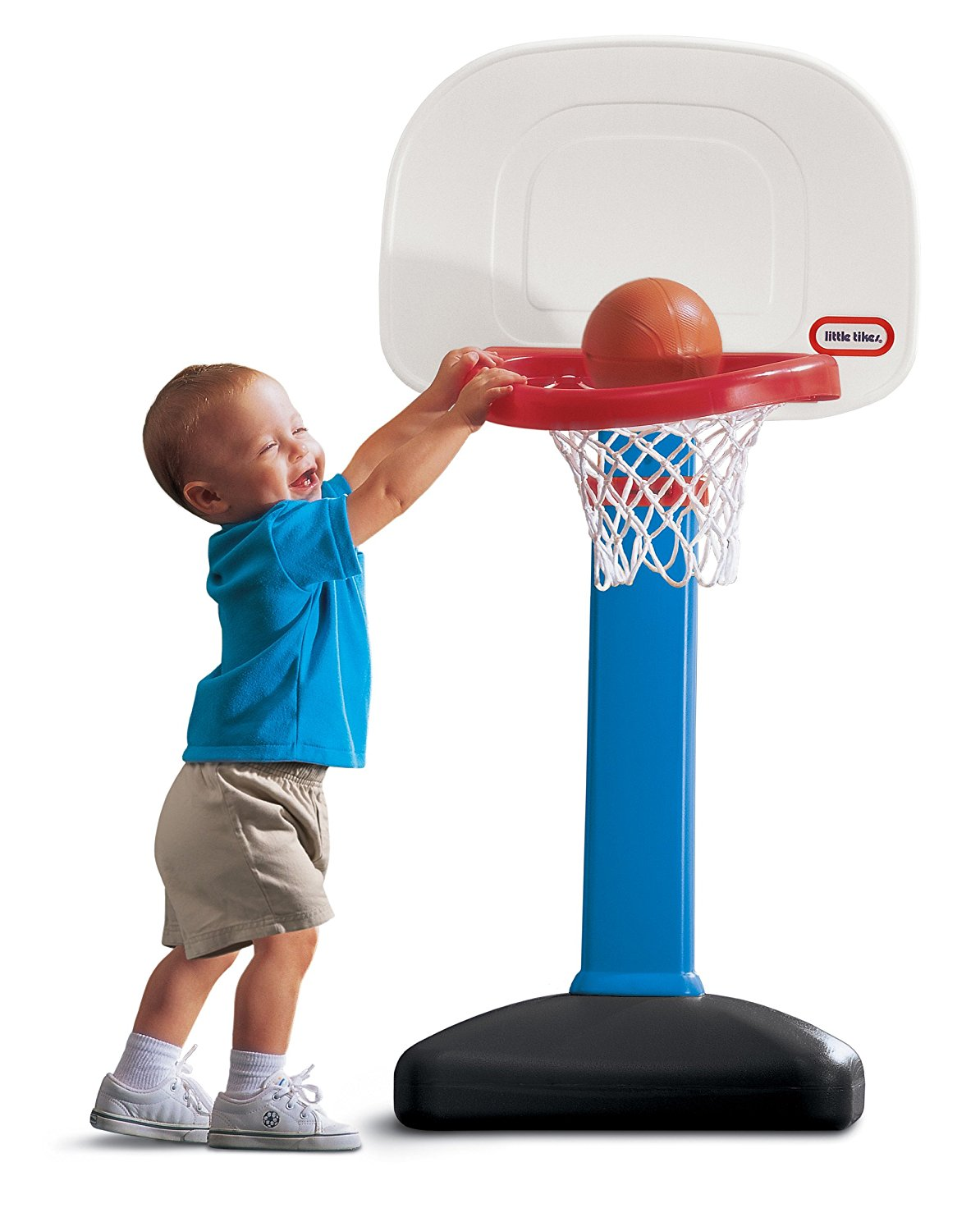 EasyScore Basketball Set, Basketball Hoop Adjusts to Six Heights from 2 to 4 Feet By Little Tikes by