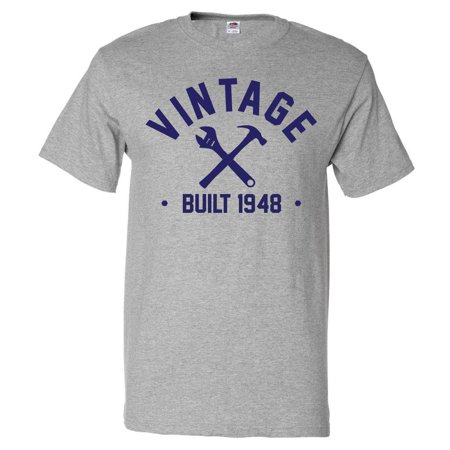 70th Birthday Gift T Shirt 70 Years Old Present 1948 Tools Tee
