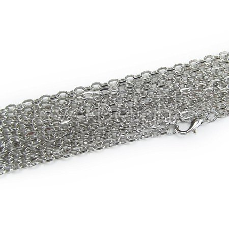 20 Pack - CleverDelights Cable Chain Necklaces - 24