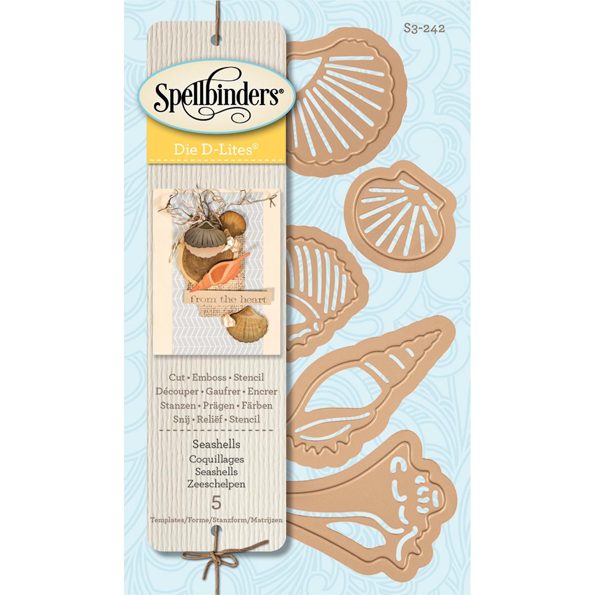 Spellbinders Shapeabilities Die D-Lites-Sea Shells - image 1 de 1