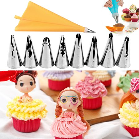 Jeobest Cake Decorating Icing Piping Tips set - 10pcs Christmas Design Festival Cake Flower Icing Piping Nozzles Cake Pastry Decorating Tips Baking Tool Pastry Decorating tool Home Baking DIY Tool MZ (Christmas Decorating Ideas Office)