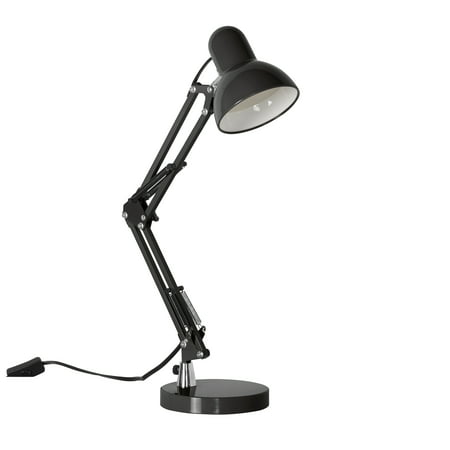 Mainstays 3.5 Watt LED Swing Arm Architect Desk Lamp, Black Arm Led Floor Lamp