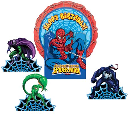 Spider-Man Spider Sense Mylar Balloon Table Decorating Kit - Superhero Centerpieces
