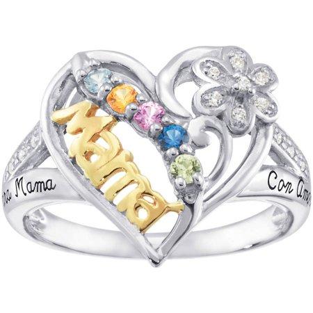 Personalized Keepsake Birthstone Mamas Pride Ring