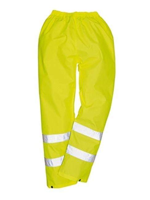 Portwest H441 Large Hi-Visibility Light Rain Trousers, Orange - Regular