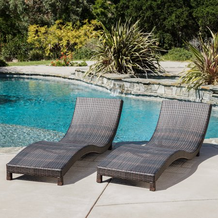 ellington outdoor brown wicker chaise lounge chairs set of 2