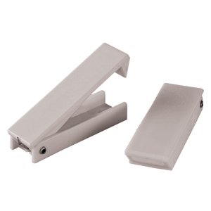 RV Designer E212 White Square Baggage Door Holder 2 Pack