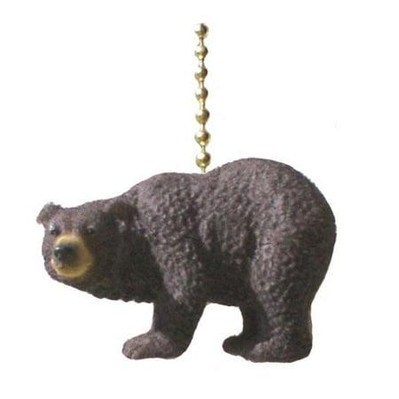 Mountain Lodge Black Bear Decorative Ceiling Fan Pull ()