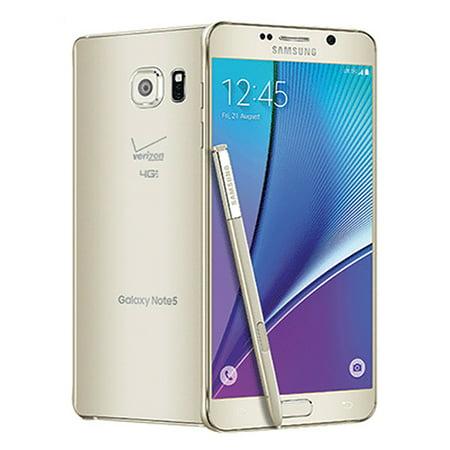 Samsung Galaxy Note 5 N920V 32GB Verizon CDMA 4G LTE Octa-Core Phone w/ 16MP Camera - Gold (Used)