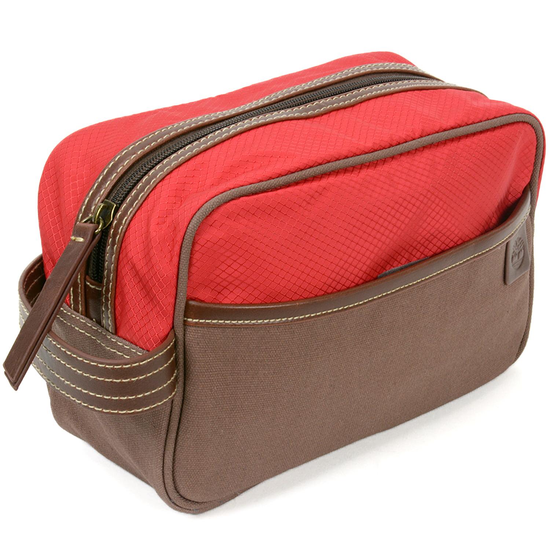 4a687e3d82a9 Timberland Toiletry Bag Dopp Kit Clutch Handle Canvas Case Overnight Travel  Kit - Walmart.com