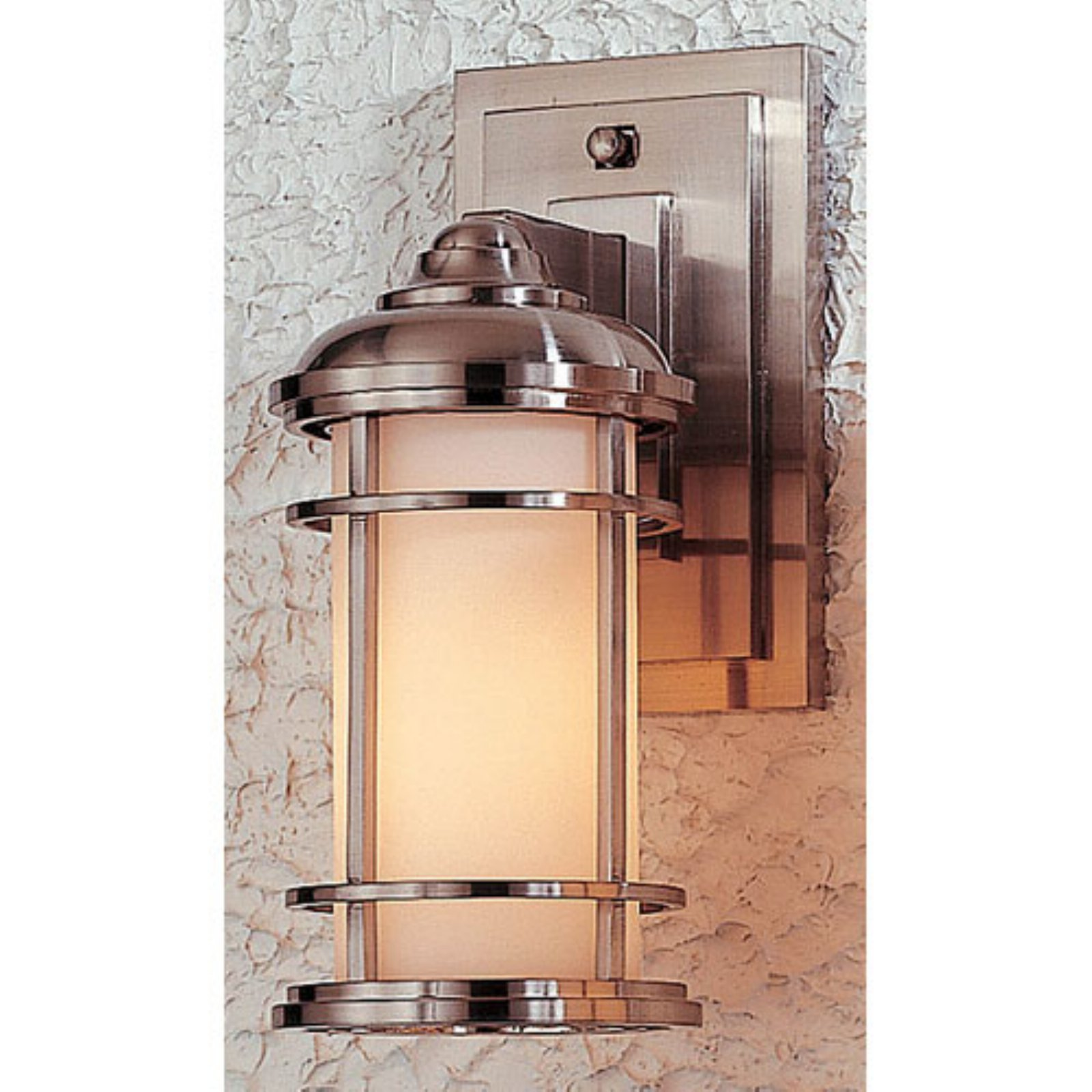 Feiss Lighthouse Outdoor Wall Lantern - 11H in. Brushed Steel