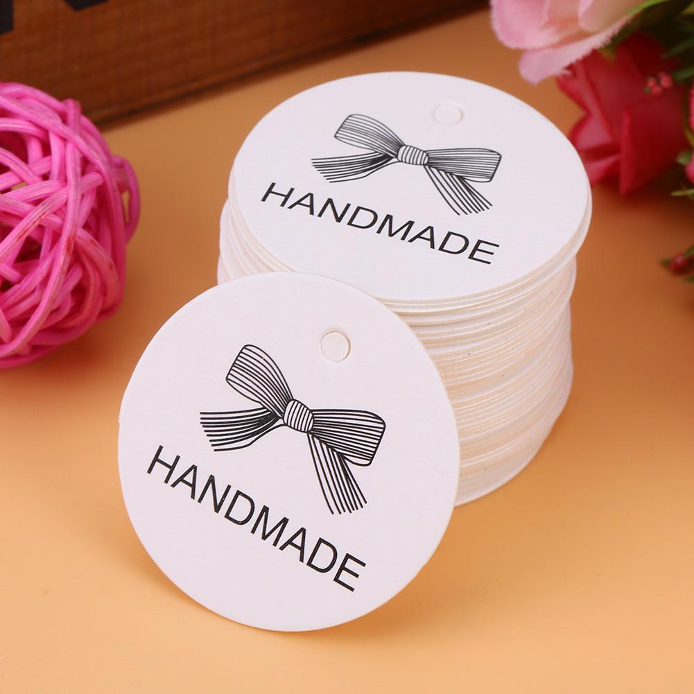 Tbest 100pcs White Handmade Hang Label Wedding Favor Gift Dessert ...