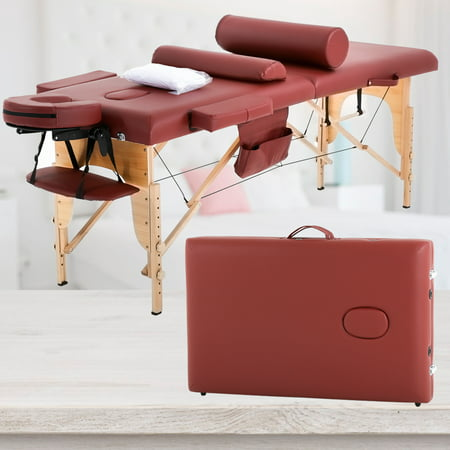 "Bolster Massage Table - Massage Table Massage Bed Spa Bed 73"" Height Adjustable Cradle Portable Massage Salon Table W/Sheet Bolster Hanger Facial 2 Folding Salon Tattoo Bed"