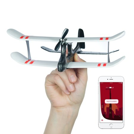 TobyRich Moskito: Smartphone App Controlled Airplane - remote controlled  drone for iOS & Android with joystick, biplane, double-decker, rc plane for