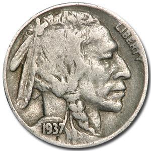 1937-D Buffalo Nickel Good+
