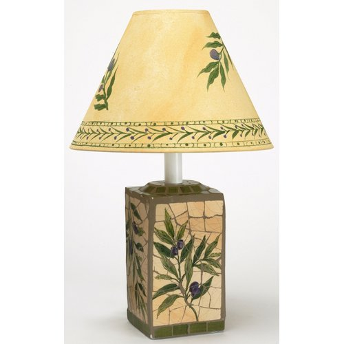 Fleur De Lis Living Binghampton Mosaic 18'' Table Lamp