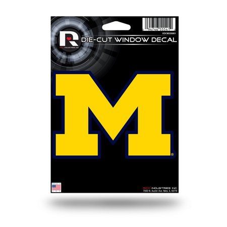 Michigan Wolverines Official NCAA 5 inch  Die Cut Car Decal by (Michigan Wolverines Ncaa Fiber)