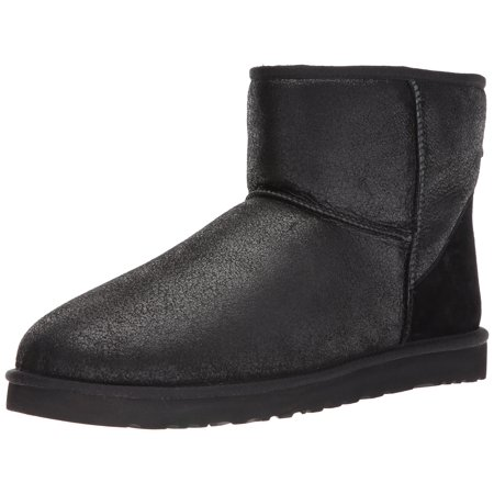 ugg mens classic mini boots in bomber jacket black 11 m us ()