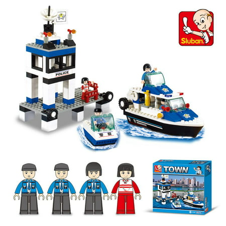 Building Block Toys (Lightahead Toy Police Station,Boats and mini Figures Building Block Set Educational DIY Kit For Kids (206)
