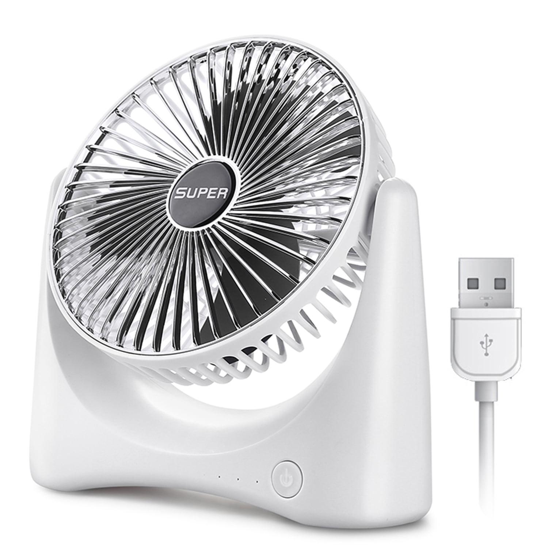 Mini Desk Fan Quiet 3 Speed Portable Fan Desk Baby Fan for ...