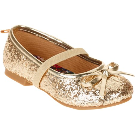 Faded Glory Toddler Girls' Dazzle Ballet Flat - Ballet Flats Toddlers