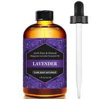 Pure Body Naturals, 100% Pure Bulgarian Lavender Essential Oil, Aromatherapy, 30ml