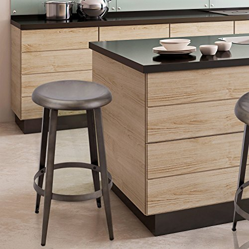 "Image of Adeco 26"" Bronze Color Metal Counter Stool"