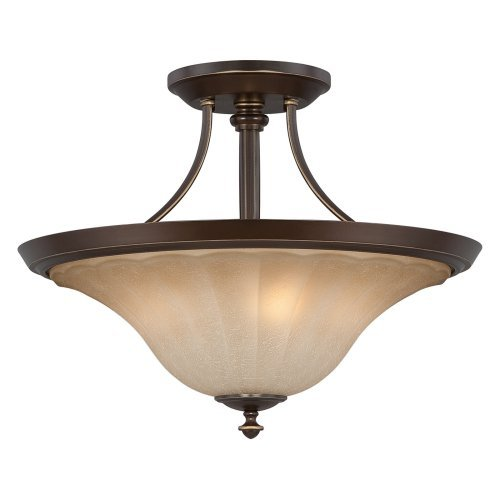 Quoizel Lighting Aliza - Three Light Semi-Flush Mount, Palladian Bronze Finish