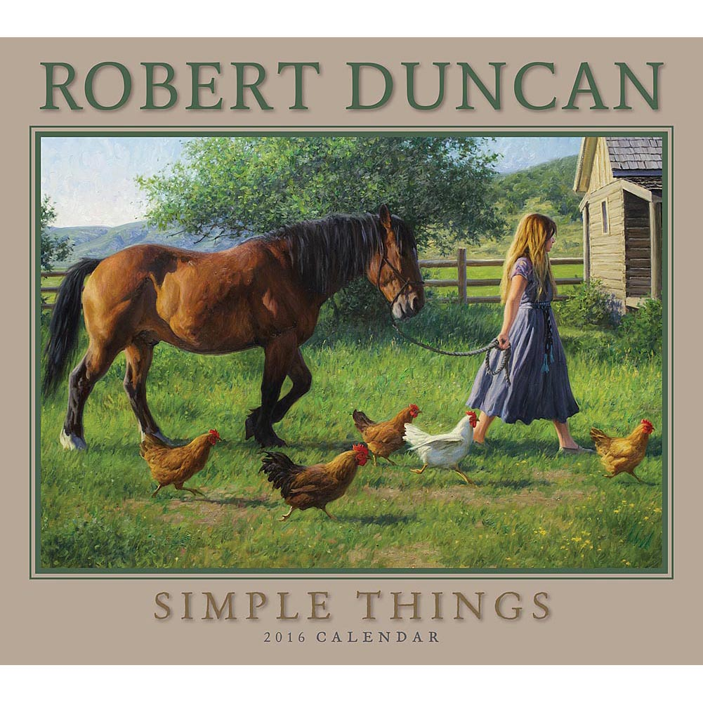 Robert Duncan Simple Things Wall Calendar