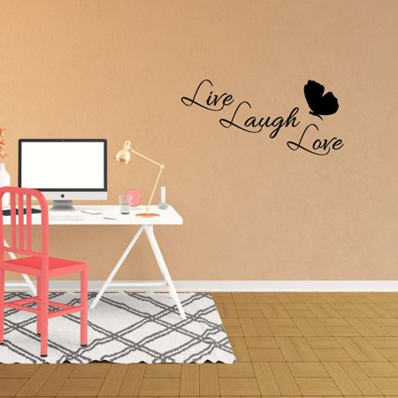 Wall Decal Quote Live Laugh Love Decor Living Room Vinyl Sticker Jp801
