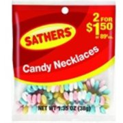 Sathers Candy Necklace 12 pack (1.35 oz per pack) (Pack of 4)