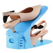 (10 Pcs) Shoe Slot Organizer Shoe Storage Slot Space Saver Shoe Rack Holder Adjustable for High Low Heels Sneakers Boots Sandals