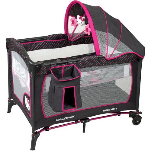 Baby Trend Serene Nursery Center Hello Kitty Polka