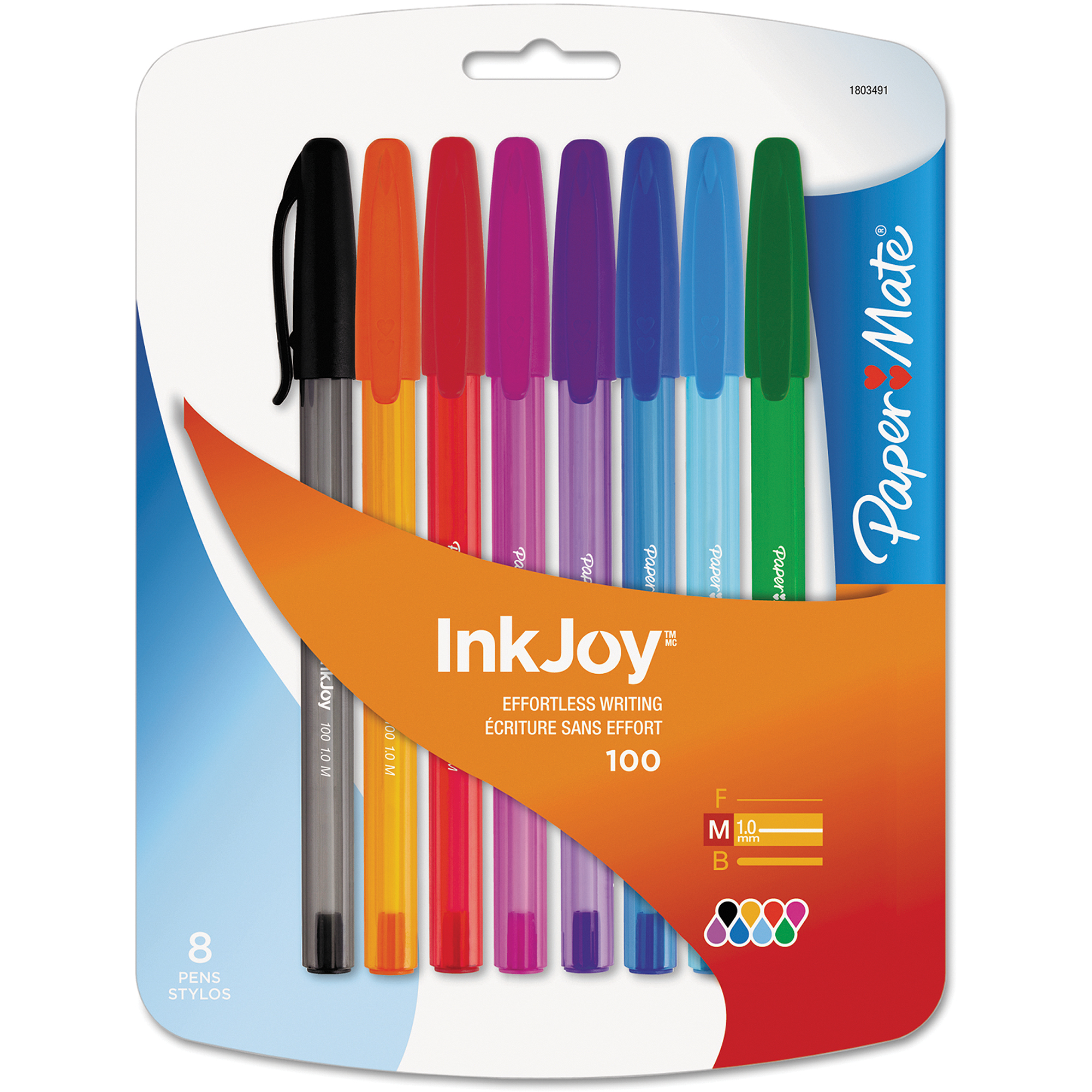Paper Mate InkJoy Medium-Point Colored Ink Pens, 8-Pack