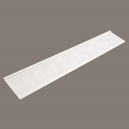 GUTTER SCREEN 6-3/8 3FT WHITE